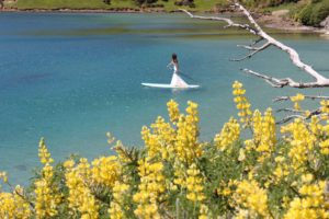Paddleboarding in my Wedding Dress!